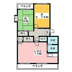 レジデンスHOSHISOU[3階]の間取り