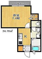 フォルス20[3階]の間取り