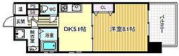 ウィステリア西梅田[6階]の間取り
