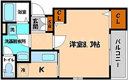 カルム千林[2階]の間取り