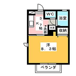 メゾン・セティ III棟[2階]の間取り
