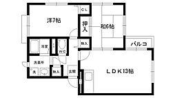 シティハイツ夙川[202号室]の間取り