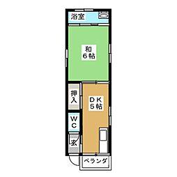 第3昇栄荘[1階]の間取り
