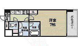 ヴィークブライト名古屋東別院 14階1Kの間取り