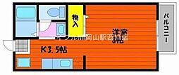 岡山県岡山市南区妹尾丁目なしの賃貸アパートの間取り