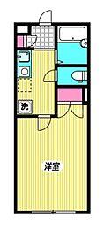 西武新宿線 西武柳沢駅 徒歩4分の賃貸アパート 2階1Kの間取り