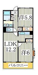 サンヒルズS[3階]の間取り