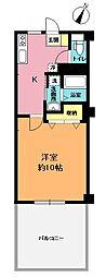 岡村ビル[9号室]の間取り