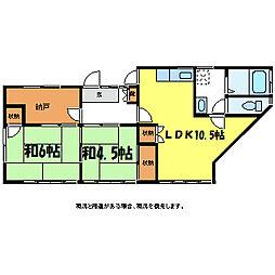 細田住宅2[2階]の間取り