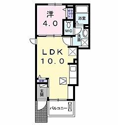 JR中央線 立川駅 バス30分 武蔵村山市役所下車 徒歩3分の賃貸アパート 1階1LDKの間取り