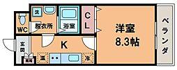 永久 トワ[3階]の間取り