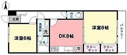 ライオンズマンション井荻第3[203号室]の間取り