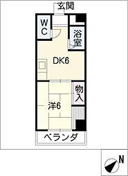 第五名昭ビル[5階]の間取り