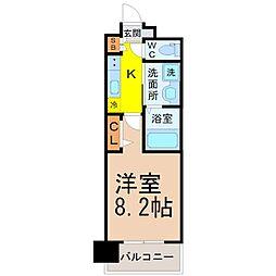 パルティール名駅北[7階]の間取り