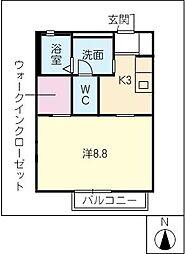 エクレール泰山 B棟[1階]の間取り