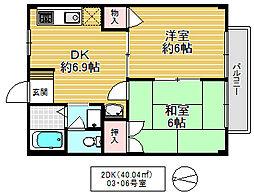 クレール・エム[2階]の間取り