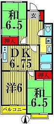 メゾン竹の塚[301号室]の間取り