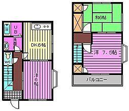 ウッディハイツ2[1階]の間取り