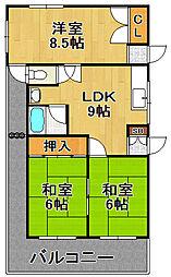 北村マンション[4階]の間取り