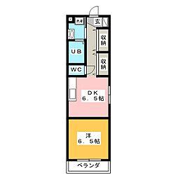 CoCo 新屋敷[3階]の間取り