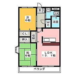 ひまわり[2階]の間取り