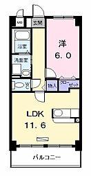 アネックス稲永駅前[308号室]の間取り