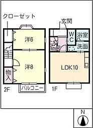 [タウンハウス] 愛知県碧南市東浦町5丁目 の賃貸【/】の間取り