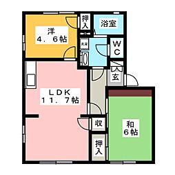 ハイツマツゾエA[1階]の間取り