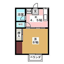 第一コーポ鈴木[1階]の間取り