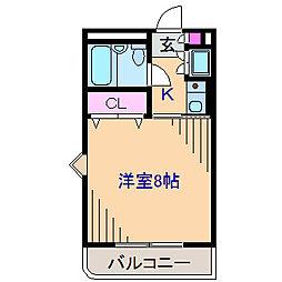 神奈川県横浜市鶴見区上の宮2丁目の賃貸マンションの間取り