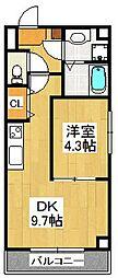 Pear Residence Minato[802号室]の間取り