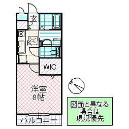 D-Room AKI 3階1Kの間取り