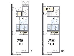 JR長崎本線 鳥栖駅 バス14分 競馬場前下車 徒歩4分の賃貸アパート 1階1Kの間取り