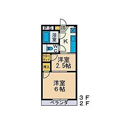 マ・シャンブル[3階]の間取り
