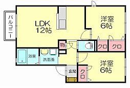 カーサエスパーダ3[2階]の間取り