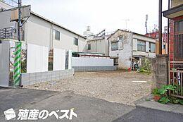 中野区沼袋1丁目の土地物件です。西武新宿線「沼袋駅」徒歩約1分と大変便利な立地。