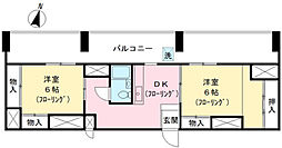 久我山マンション[604号室]の間取り