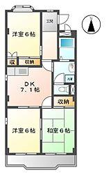 愛知県名古屋市緑区相原郷2丁目の賃貸マンションの間取り