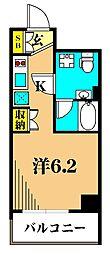 プレミアムキューブ大井町mo 5階1Kの間取り