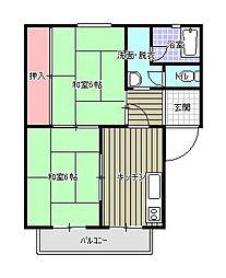 パークハイツ笹山[1階]の間取り