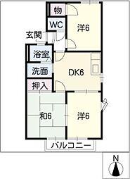 クレストハウスB棟[1階]の間取り