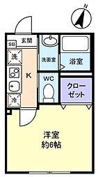 勝田台PD I[1階]の間取り