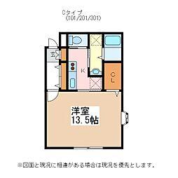 JR篠ノ井線 松本駅 バス10分 沢村下車 徒歩2分の賃貸マンション 1階1Kの間取り