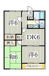 ニューハイツ・SUZUKI[1階]の間取り