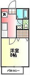 神奈川県秦野市南矢名2丁目の賃貸アパートの間取り