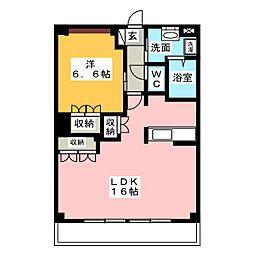コンフォール前田III[2階]の間取り