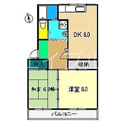 松岡マンション[4階]の間取り