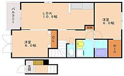 サンヴィレッジ2[2階]の間取り