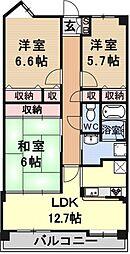 RM大津京ソルジャンテ[215号室号室]の間取り