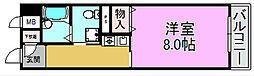 ラポール三国[3階]の間取り